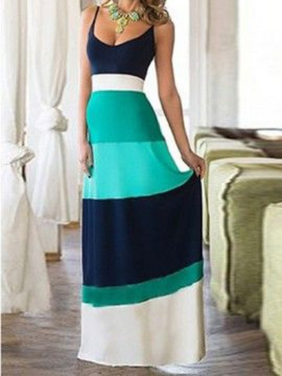 light-blue-color-block-condole-belt-bohemian-maxi-dress
